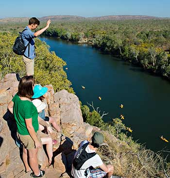Tourists looking down on Katherine Gorge