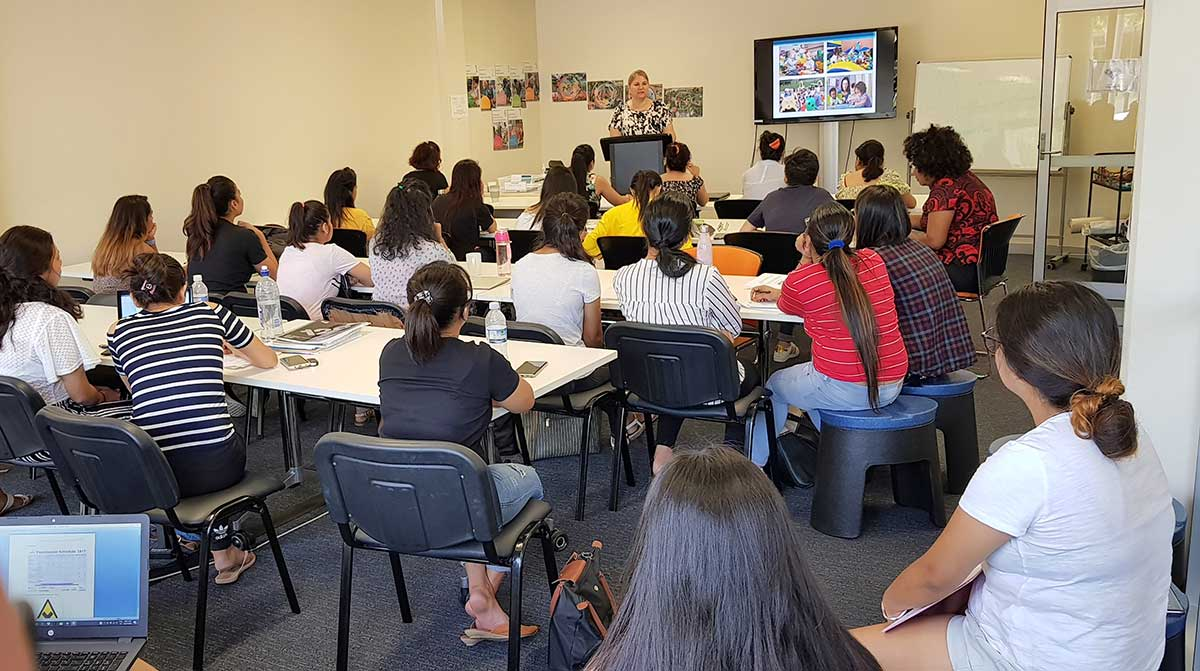 Students in class at Australian Careers College