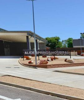 Signage of Alice Springs Hospital