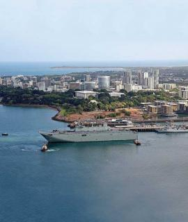 Defence ships in Darwin harbour