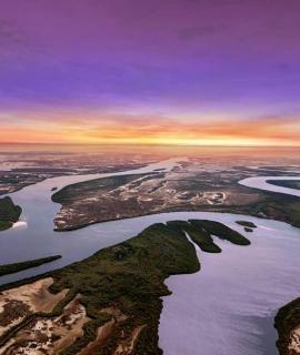 Waterways of the Northern Territory at sunset