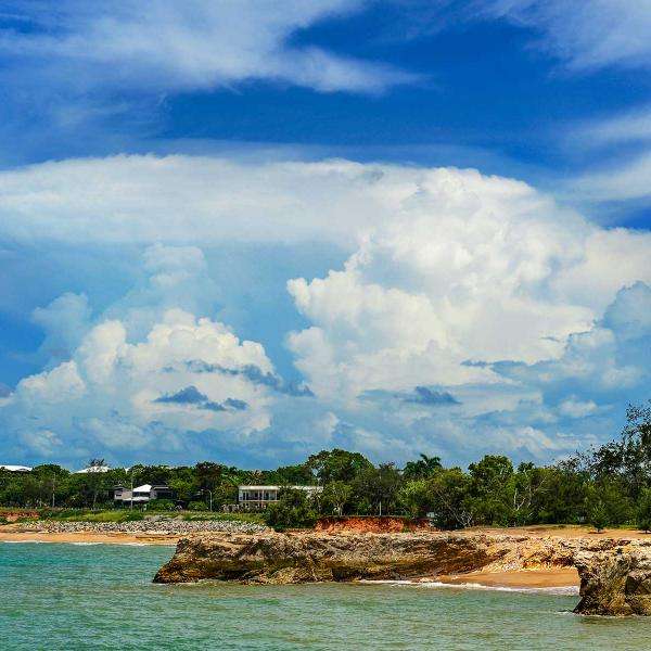 Clouds forming above Casuarina beach
