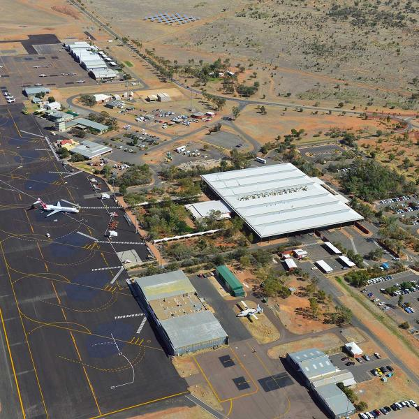 Aerial view of Alice Springs airport
