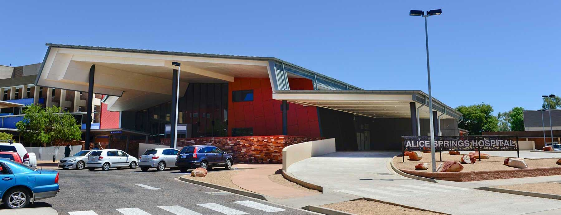 Outside view of Alice Springs Hospital