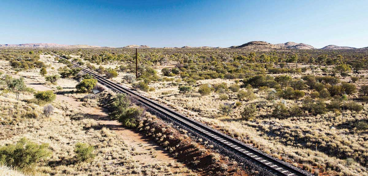 Railway track in remote Australia