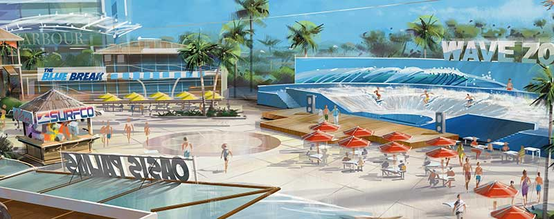 Concept drawing of proposed water theme park