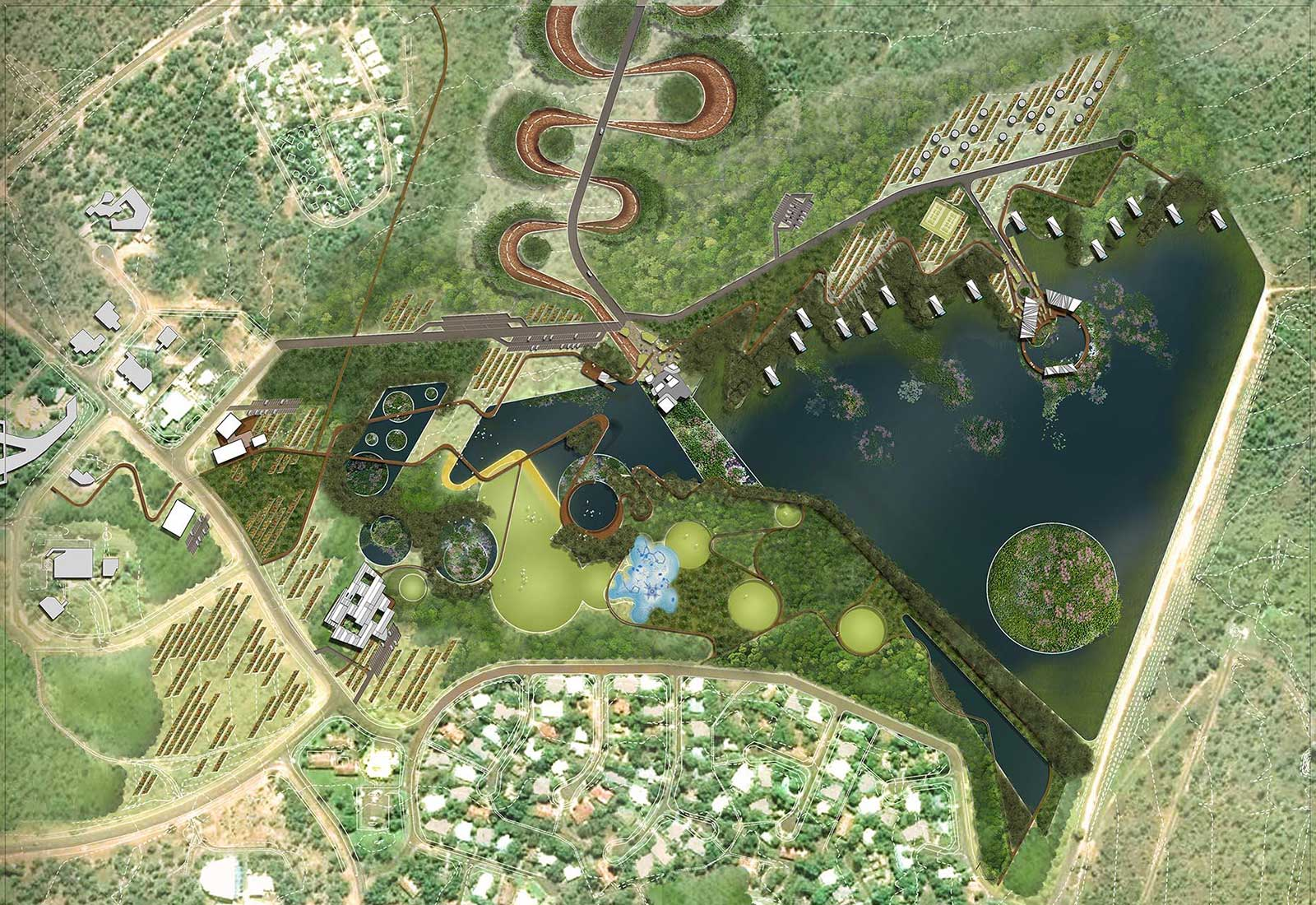 Concept aerial view of Jabiru