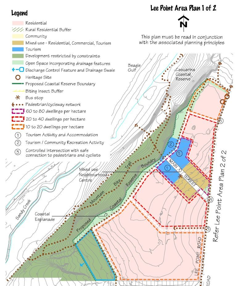 Map of proposed development of Lee Point