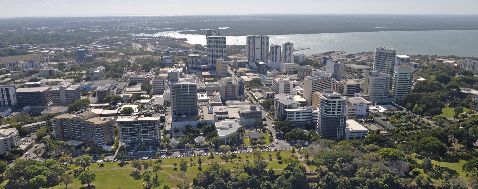 Aerial view of Darwin city