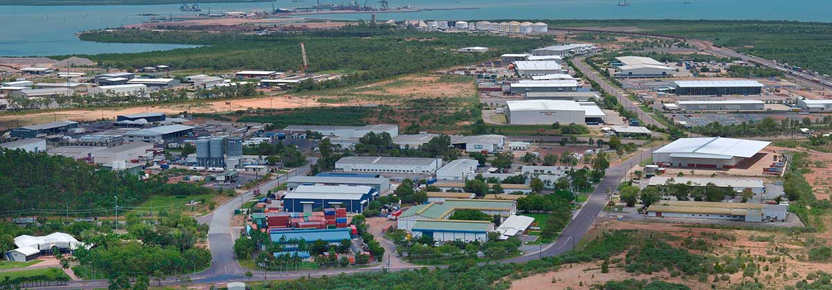 Aerial view of Darwin Business Park