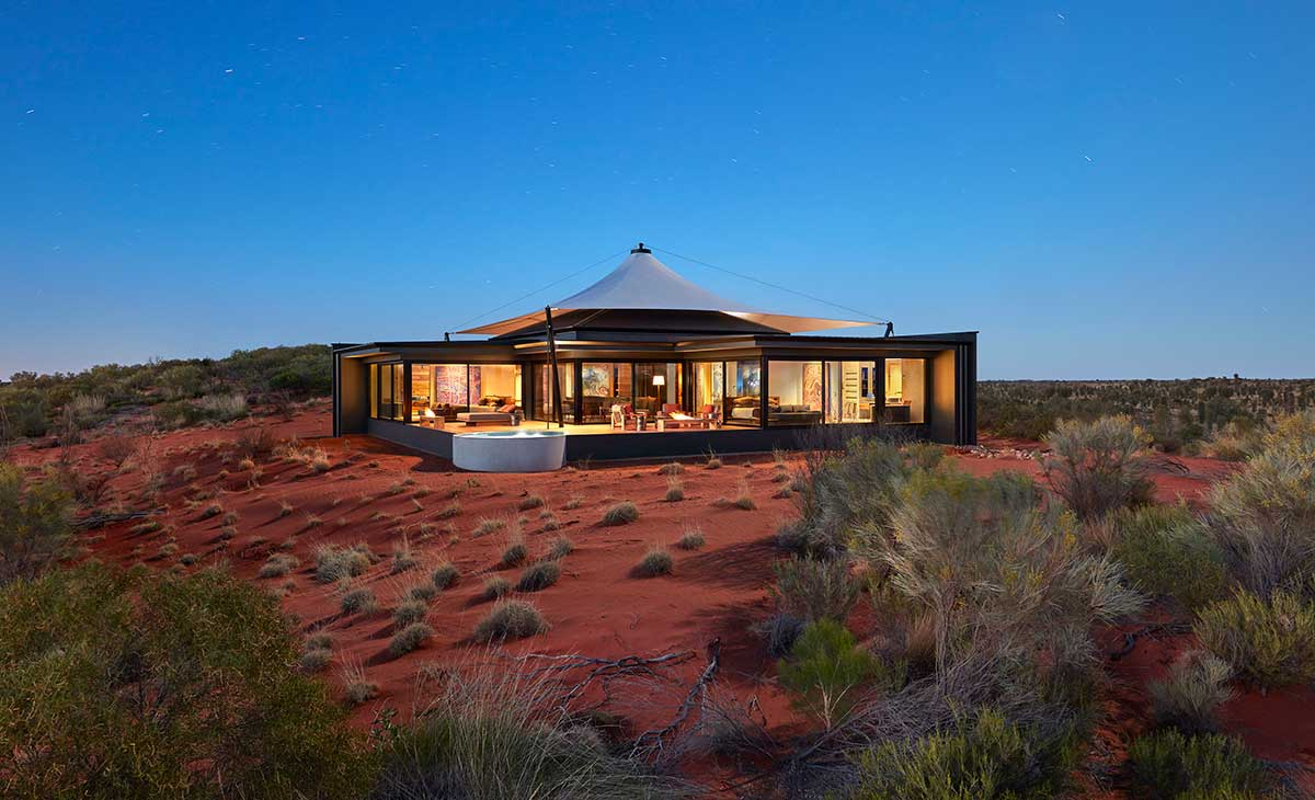 Lodge at Longitude 131 in Central Australia