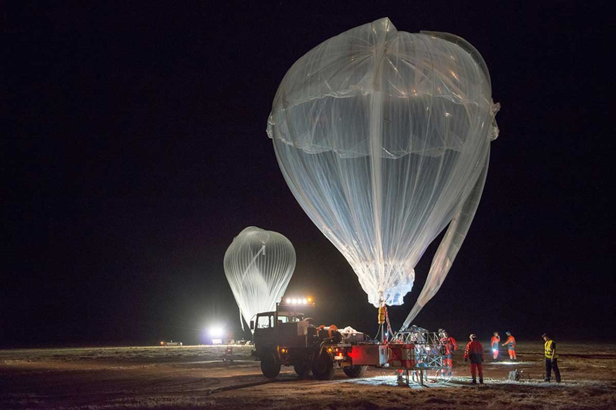 High-altitude balloons ready for launch